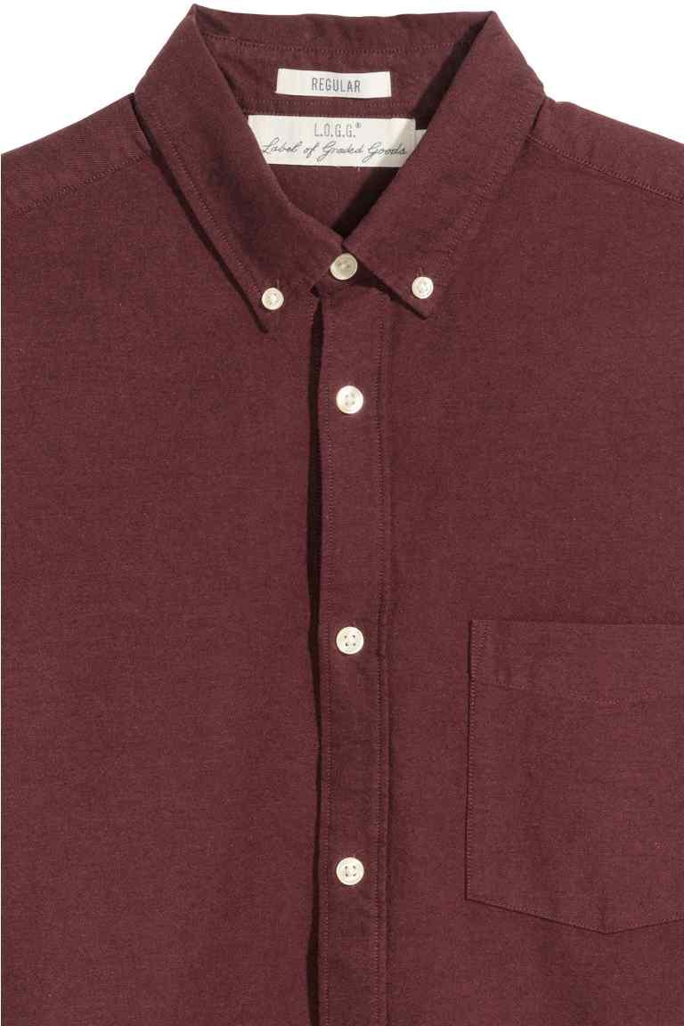 chemise oxford coton pas cher bordeau 2.jpg