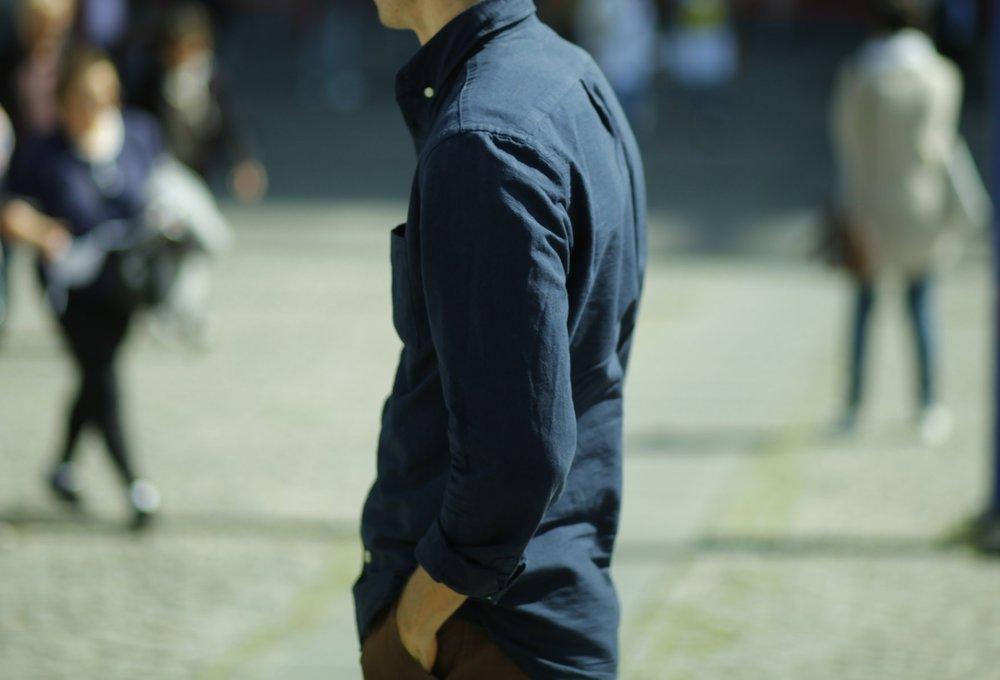 chemise H&M coton oxford pas cher