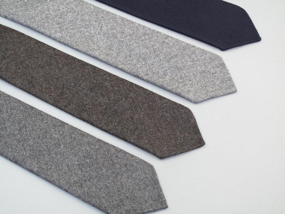 cravate made in France flanelle de laine handmade fait main