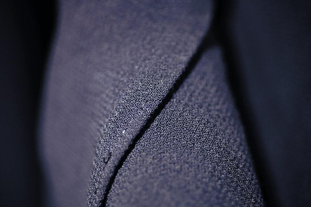 Blazer en laine froide avec col châle