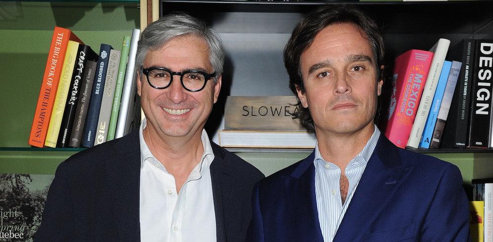 Roberto Compagno à gauche, CEO Slowear Emanuele-Farneti à droite, rédacteur en chef de Vogue Italy et l'Uomo Vogue