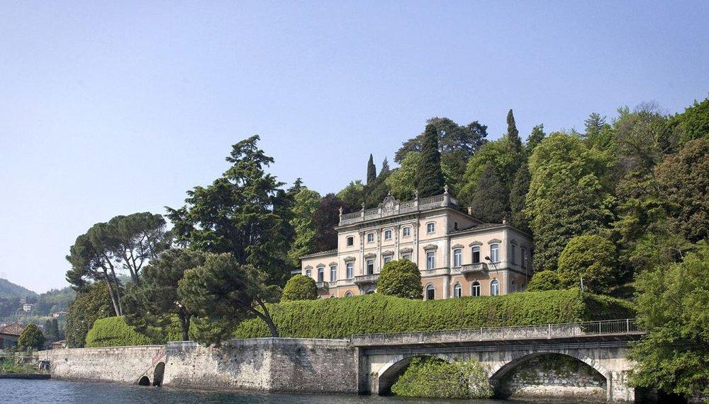 La villa Sucola, au bord du lac de Côme en Italie