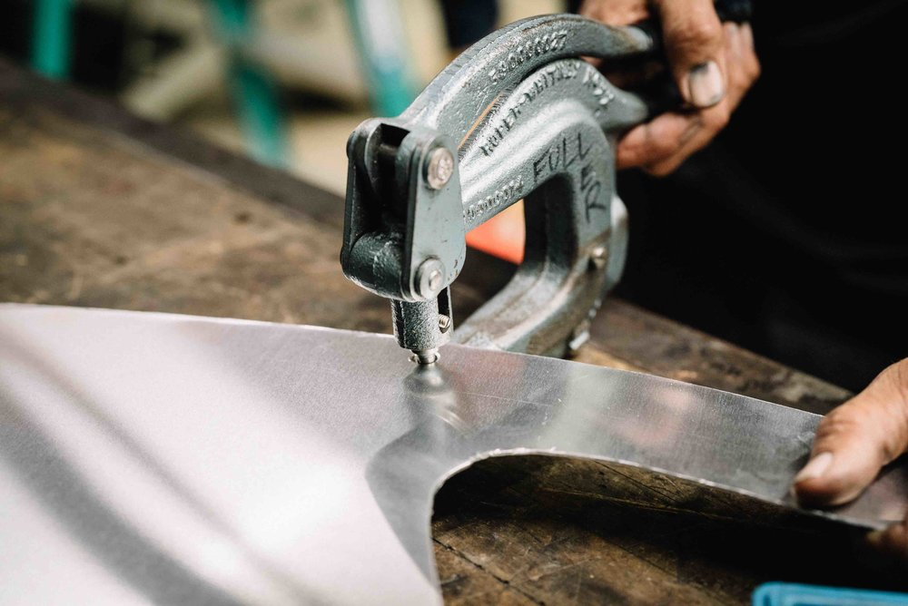 Punching Aluminum Fenders DIY