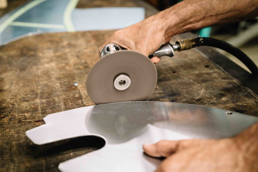 Grinding Aluminum Fenders DIY