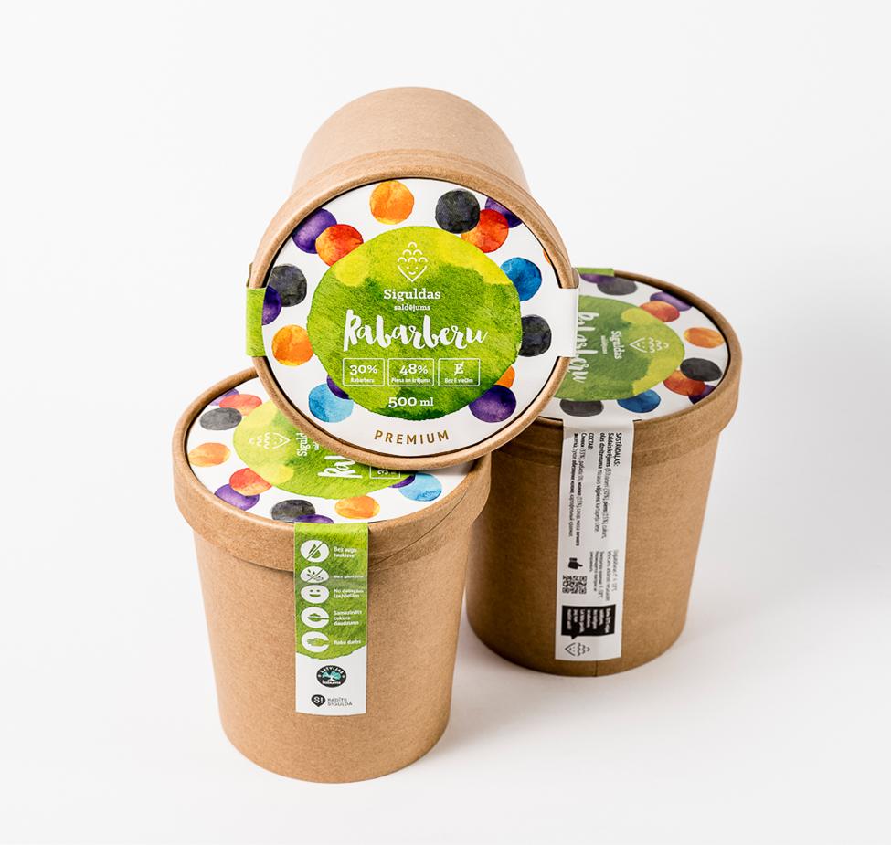 Siguldas saldējums - Rabarberu