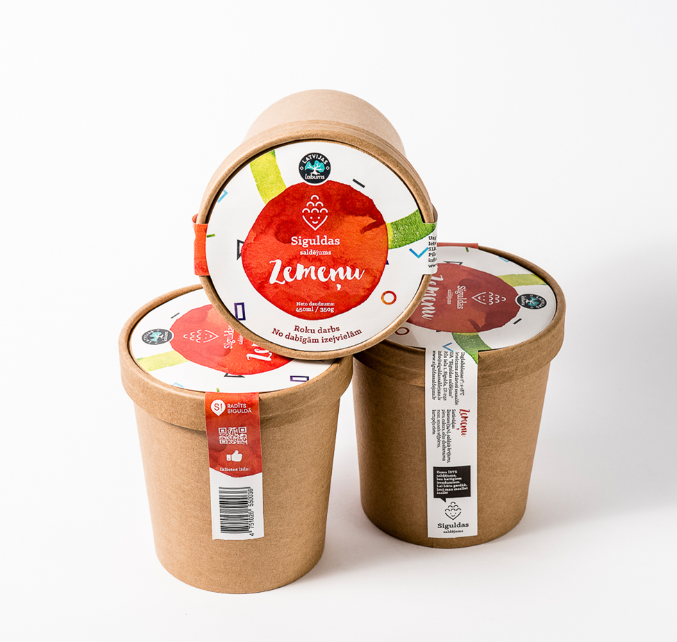 Siguldas saldējums - Zemeņu