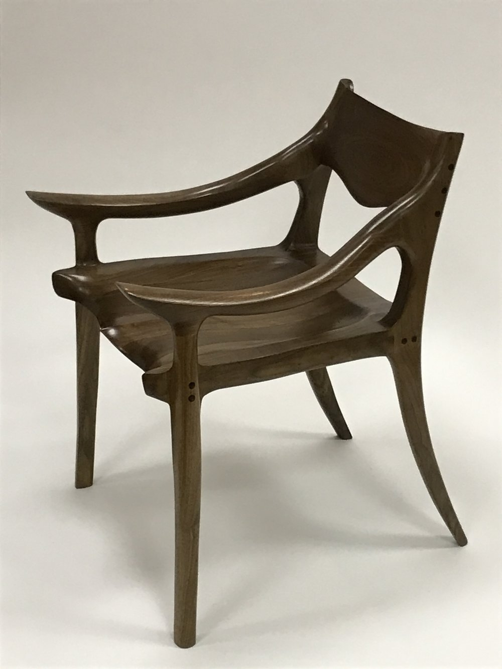 Black Walnut Low Back Chair
