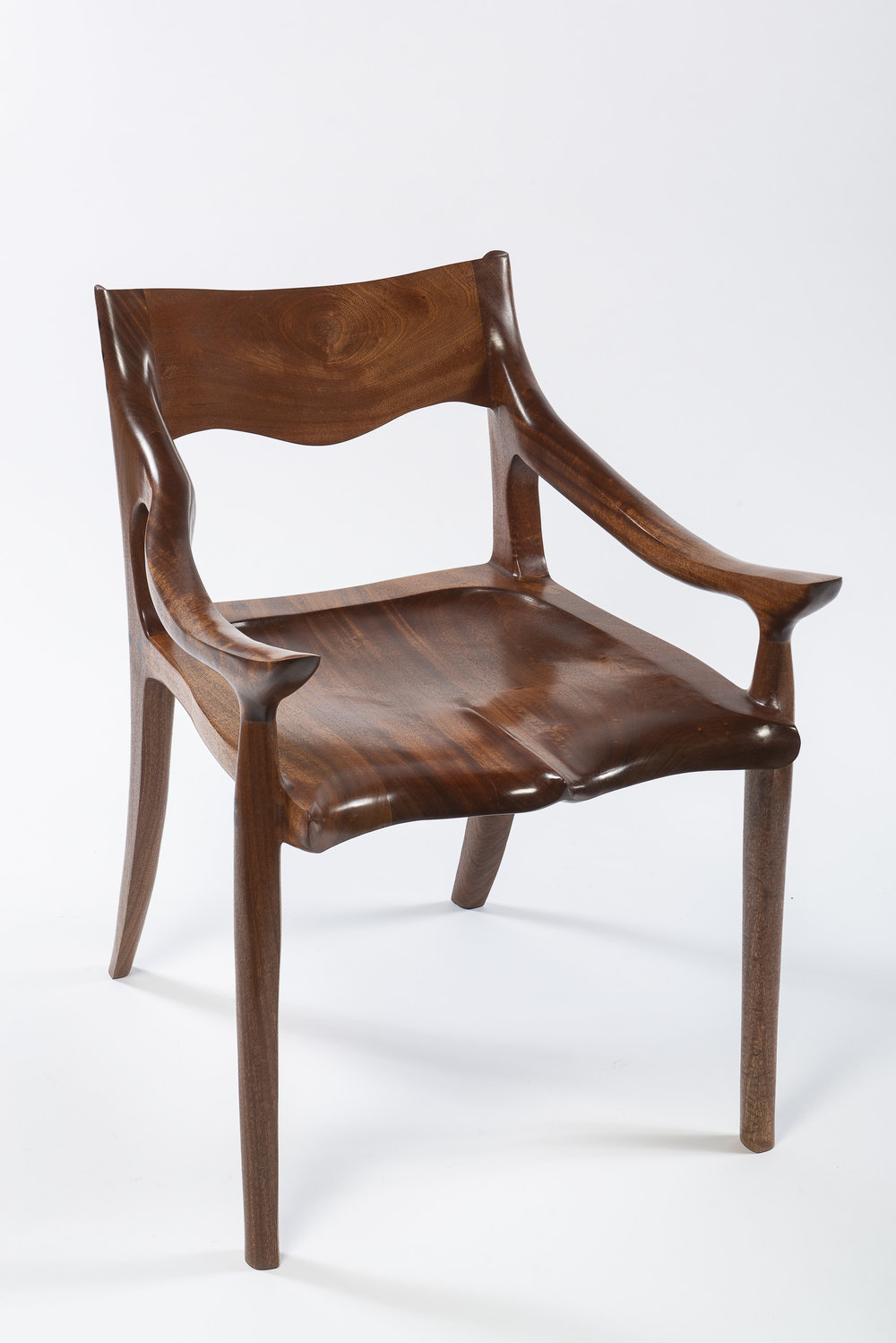 Sapele Low Back Chair