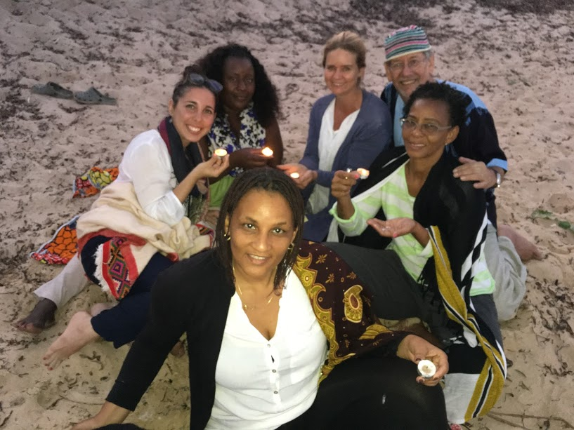 Light offering ceremony, developing compassion at the beach.