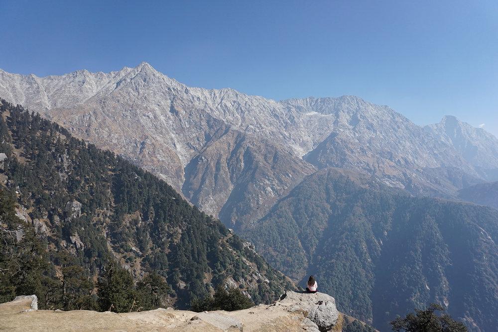 Contemplando la naturaleza de la realidad. Triund, Dharamsala, India