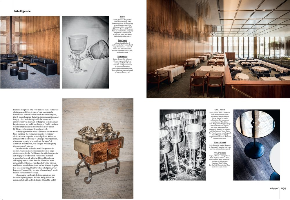 Wallpaper Magazine - Four Seasons Restaurant