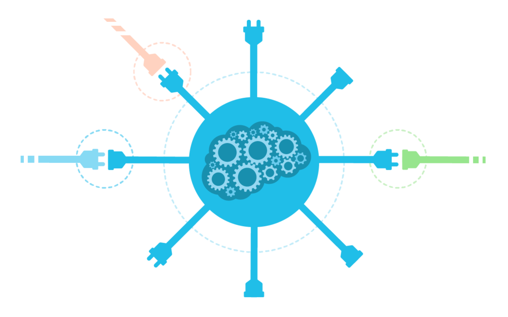 conexão universal - Nossa plataforma é API First, isso significa que você pode criar integrações com qualquer outro software ou device que possua APIs.