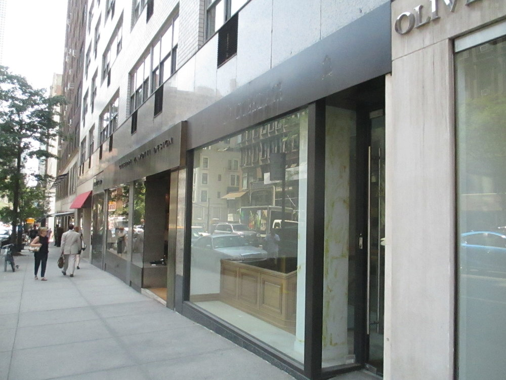 Storefront before renovation