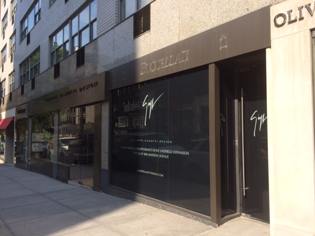 Storefront at start of renovation