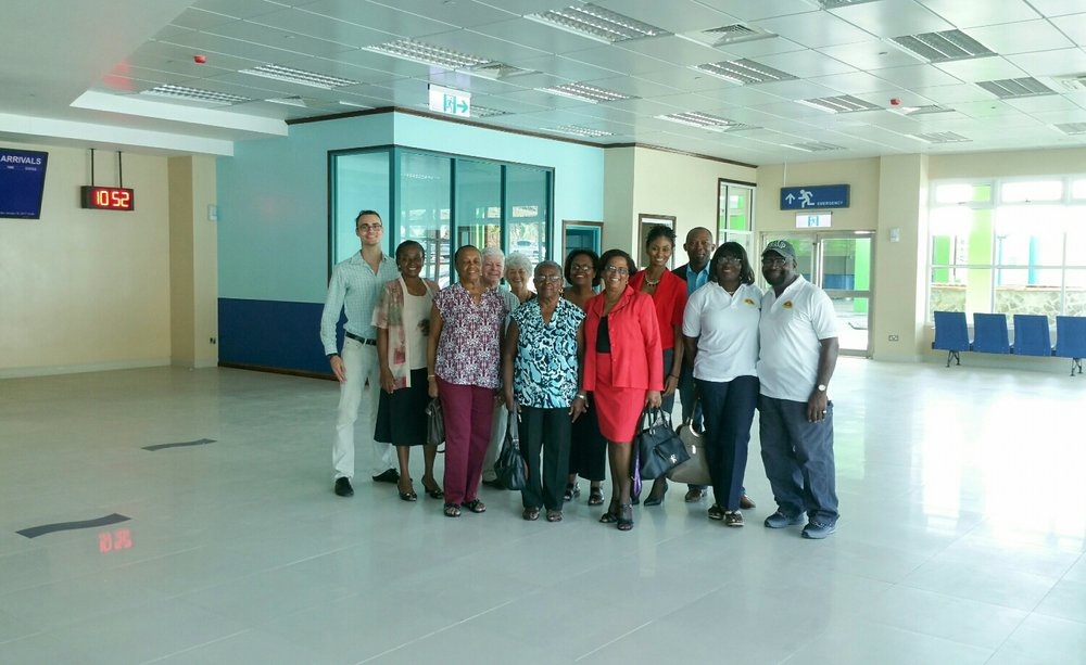 Big Up Ourselves! SVGHTA members and family with Descilla Samuel our Tour Guide from Customer Service Relations  CSR