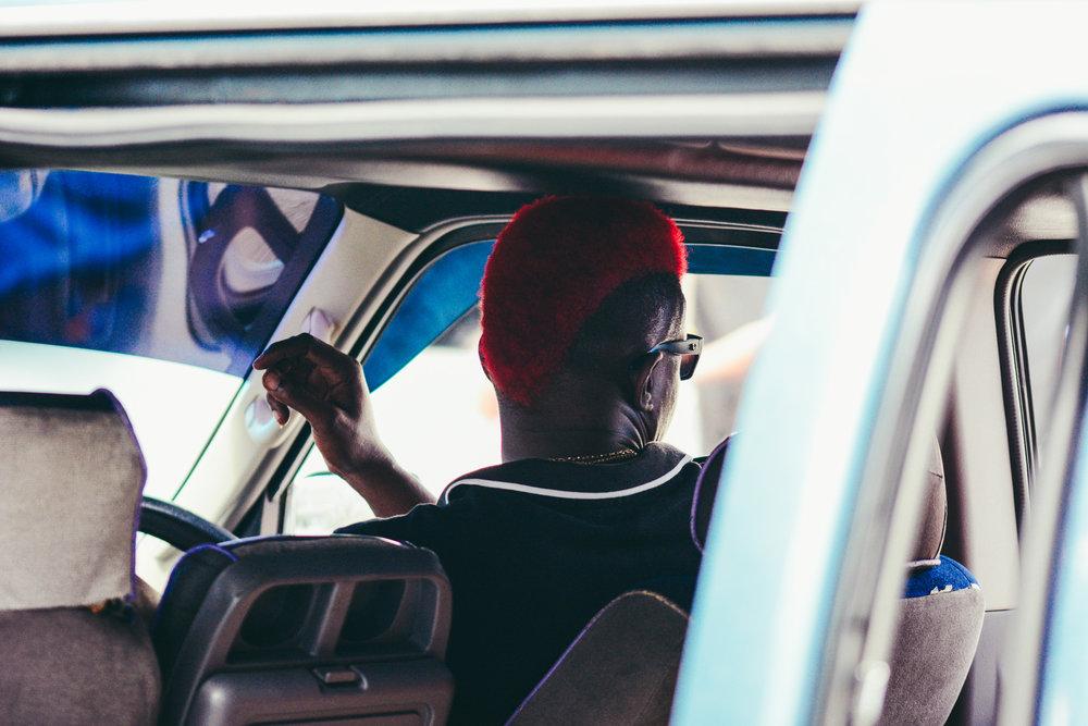 A Vincentian Van Driver.