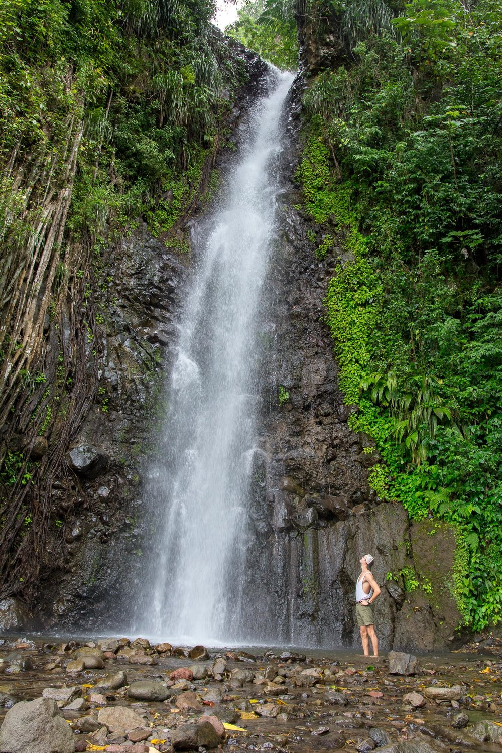 1st Level of Dark View Falls. (6'2 Me for Scale)