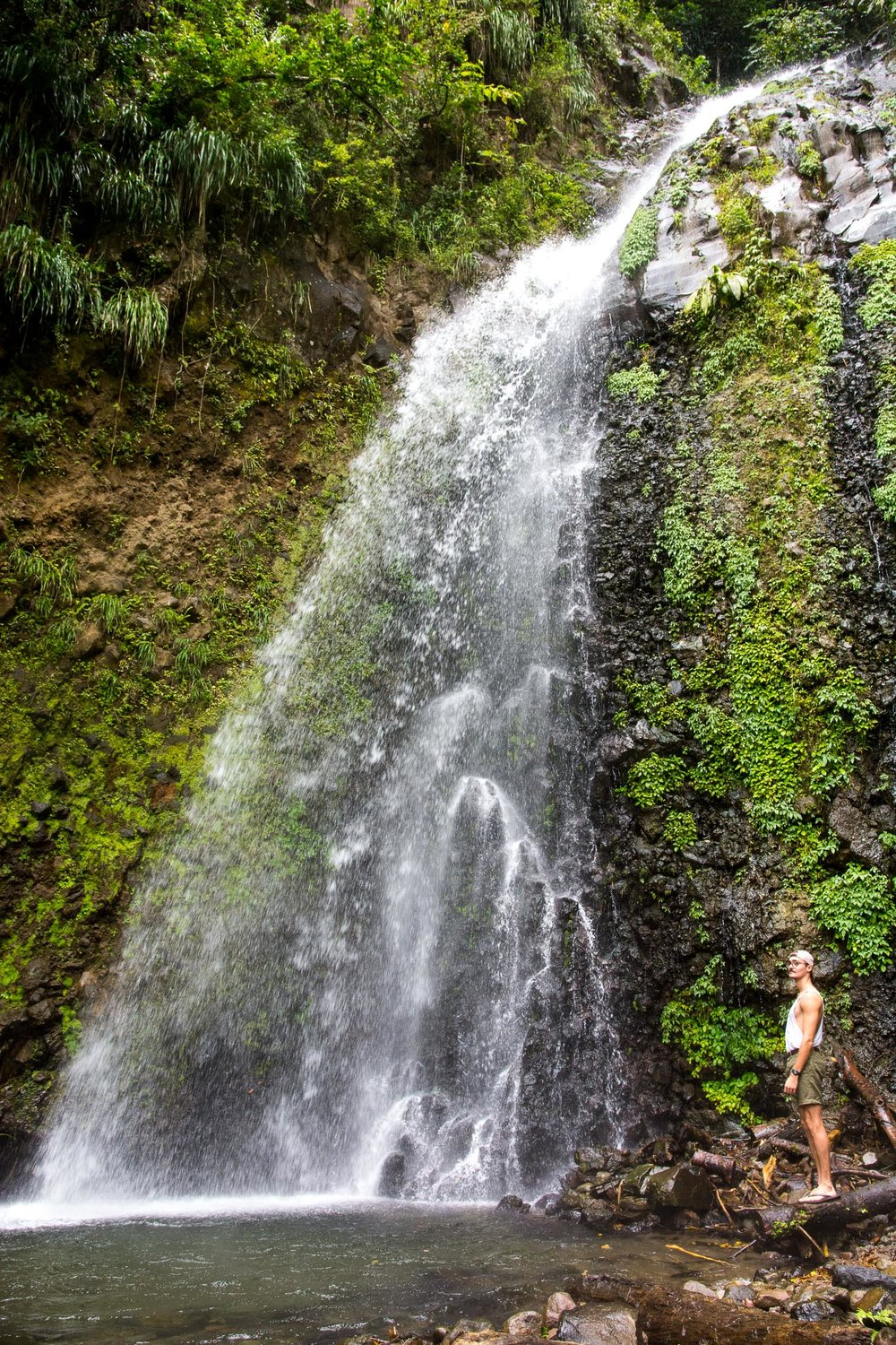 2nd Level (above) of Dark View Falls (also (6'2 Me for Scale)