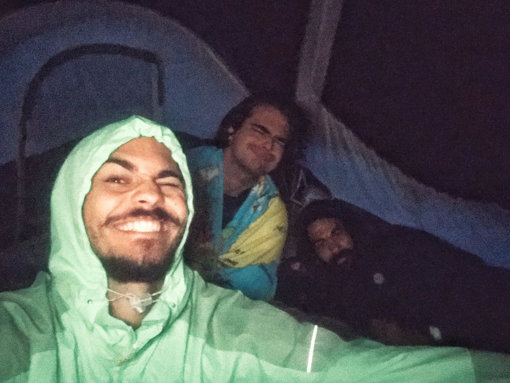 Wind , Rain and Smiles. 05.10.18, 05:35am , La Soufriere Crater.
