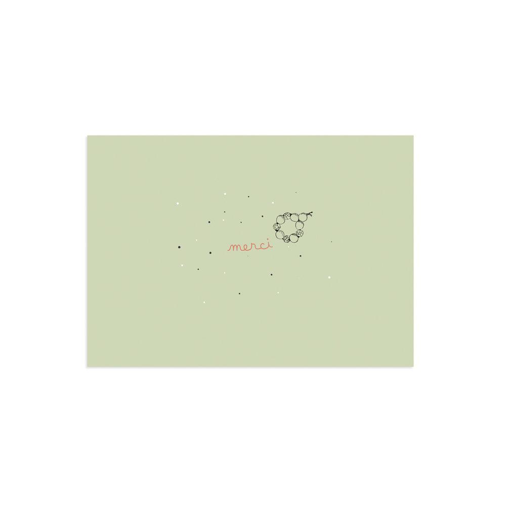 Carte de remerciement Polisson vert