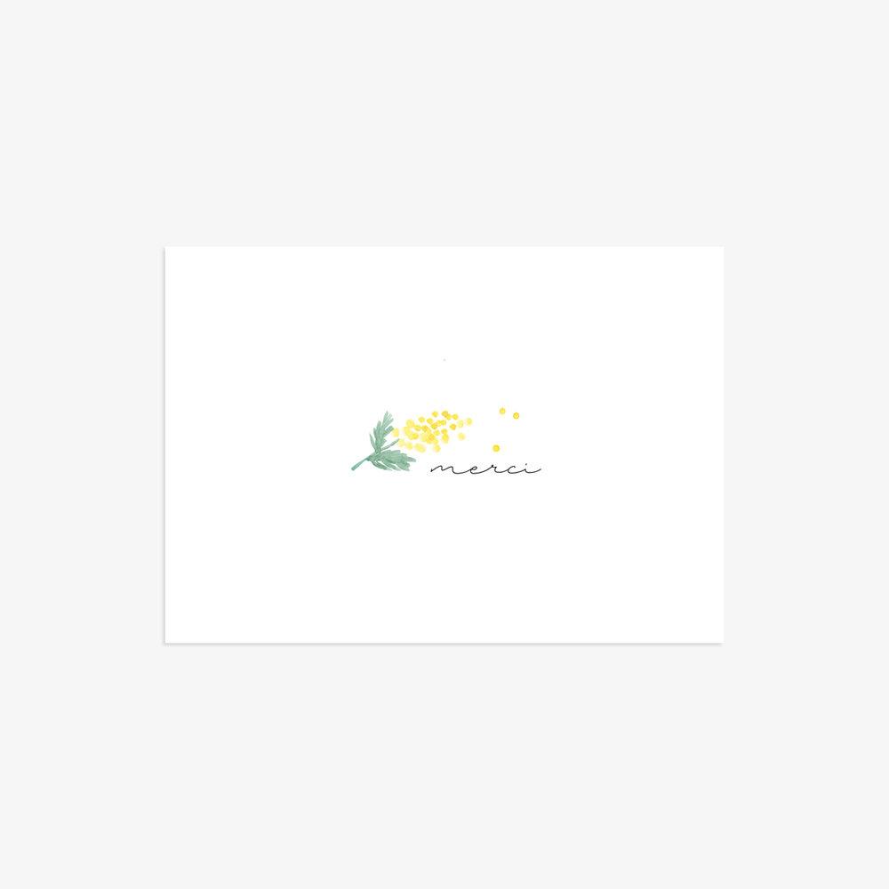 Carte de remerciement Mimosa