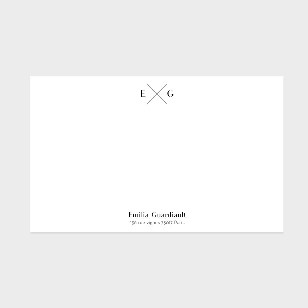Collection Initiales - carte de correspondance