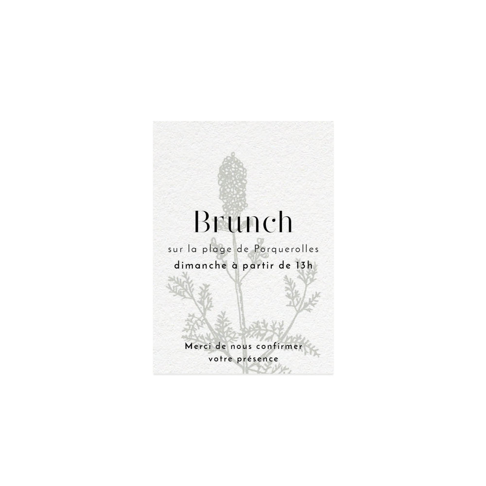 Invitation brunch