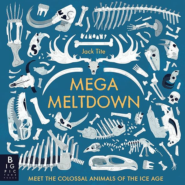 ❄💀 Coming this October! Mega Meltdown is my debut book with @bigpicturepress. Filled with incredible animals that lived during the Ice Age, this was great fun to make and a real passion of mine. Available around the world 🌍 .  Link in my bio for 🇬🇧 . . . #nonfiction #bones #mammoth #iceage #fossil #childrensbook #animals #wildlife #naturalhistory #illustration #illustrate #digitalillustration #photoshop #texture #digitalart #art #design #gfxmob #creative #publishing