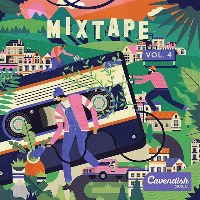 🎶📼🌱 I recently illustrated the cover for Cavendish Music's cassette mixtape, revolved around nurturing and growing big ideas. . . . #illustration #artwork #art #illustrate #digitalillustration #photoshop #texture #digitalart #art #design #gfxmob #creative #instaart #music #cassette #city #neon #colour #pink #mixtape #vector #retro #cassettetape #plants #growth