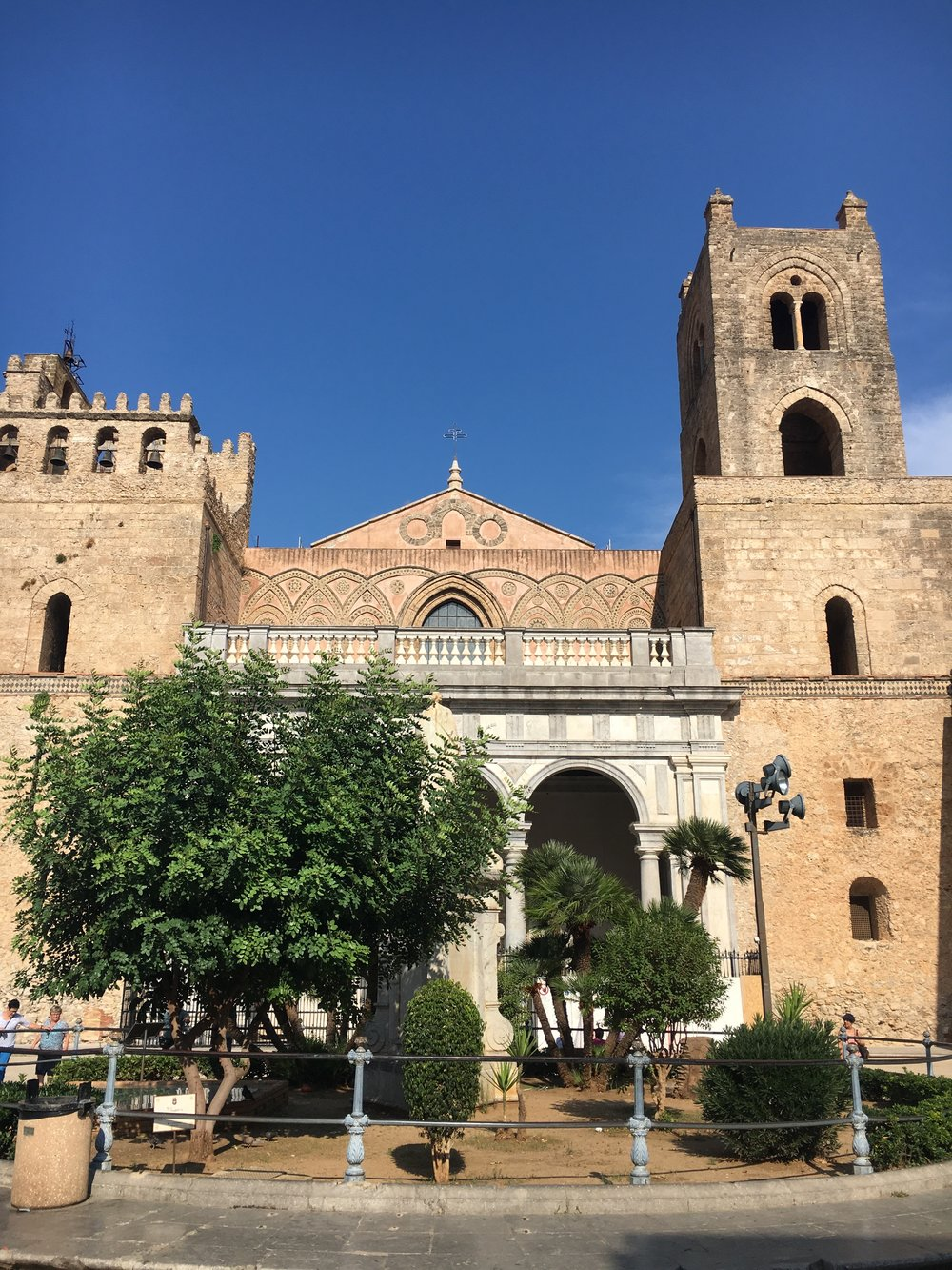 The exterior of the Monreale Cathedral, Sicily, September 2016.