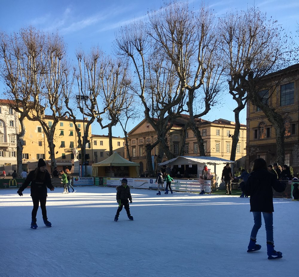 Ice skating rink, Lucca, December 2016.