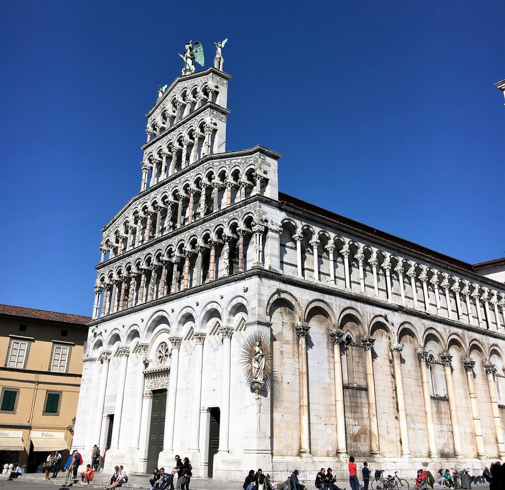 San Michele church in Lucca. spring 2016.