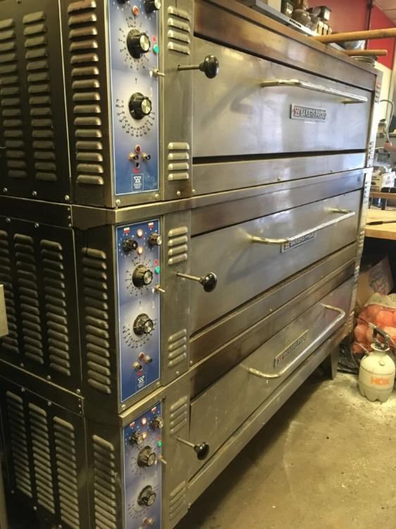 The new pizza oven at M'tucci's Market and Deli