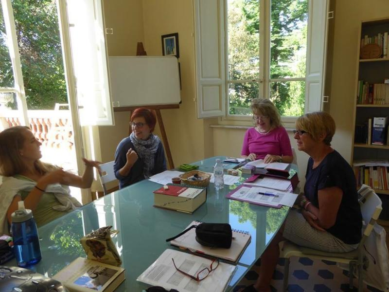 A class in session at Lucca Italian School. *