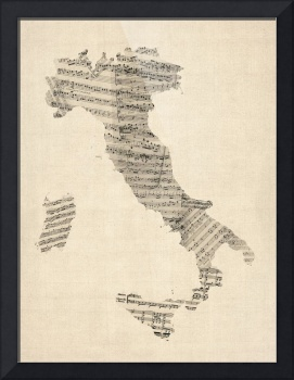 In my house in New Mexico, I have a map of Italy made of old sheet music. You can't have music without Italy and you can't have Italy without music.