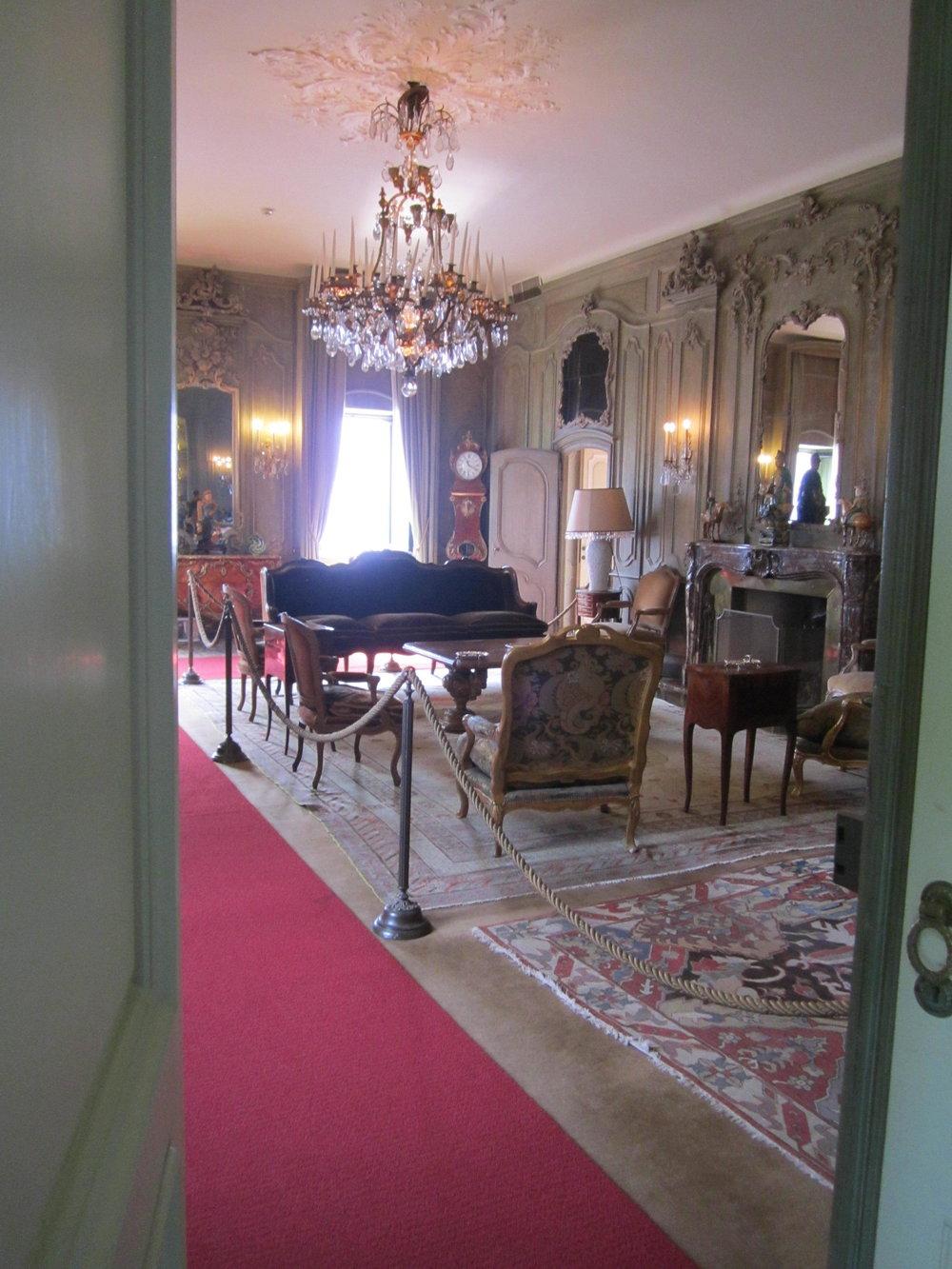 Sitting room inside the villa