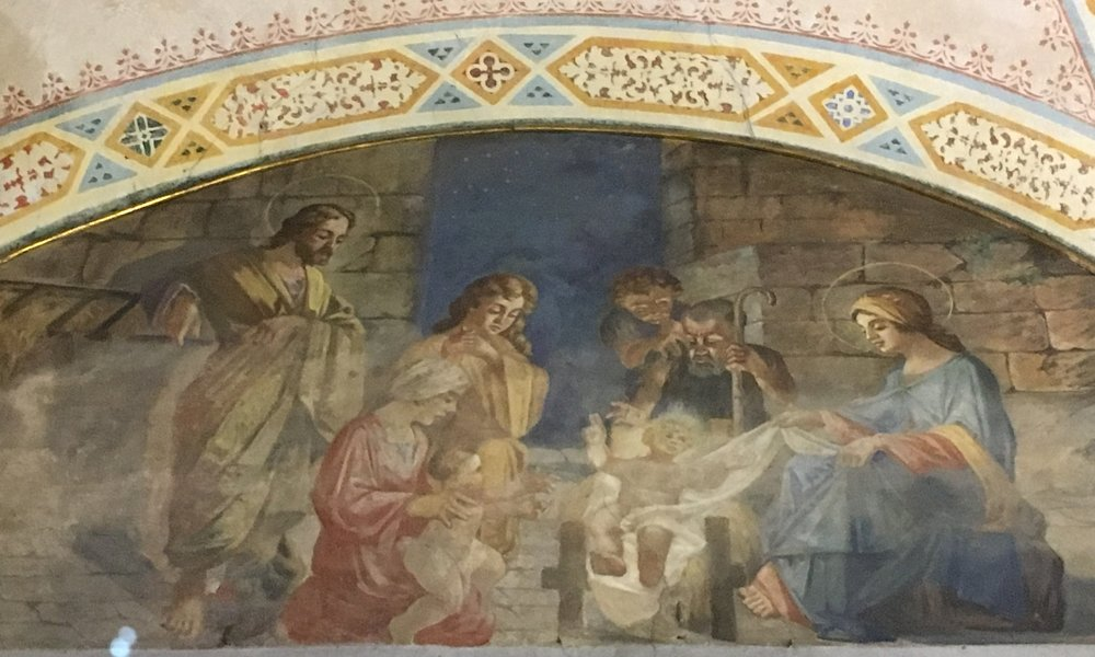 Just one of the beautiful frescoes inside the church of Santa Maria della Rosa.
