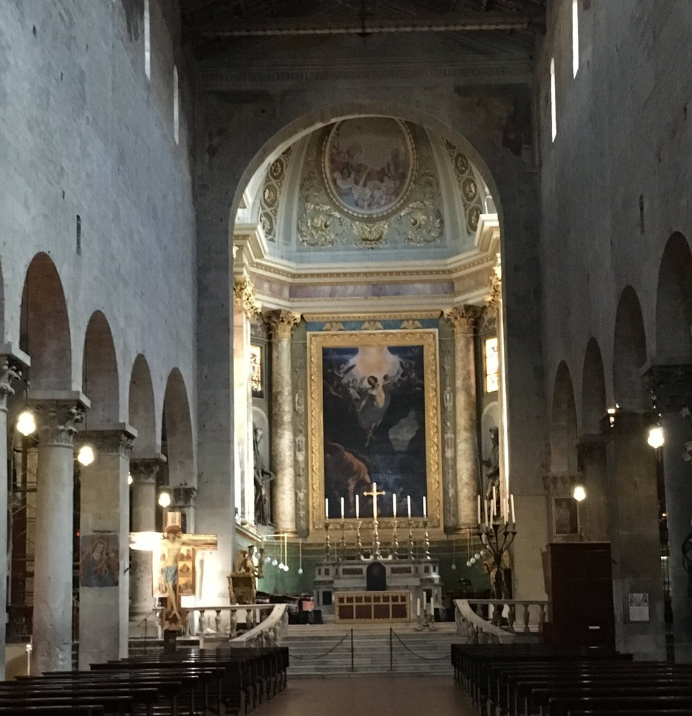 The main altar in the Duomo.