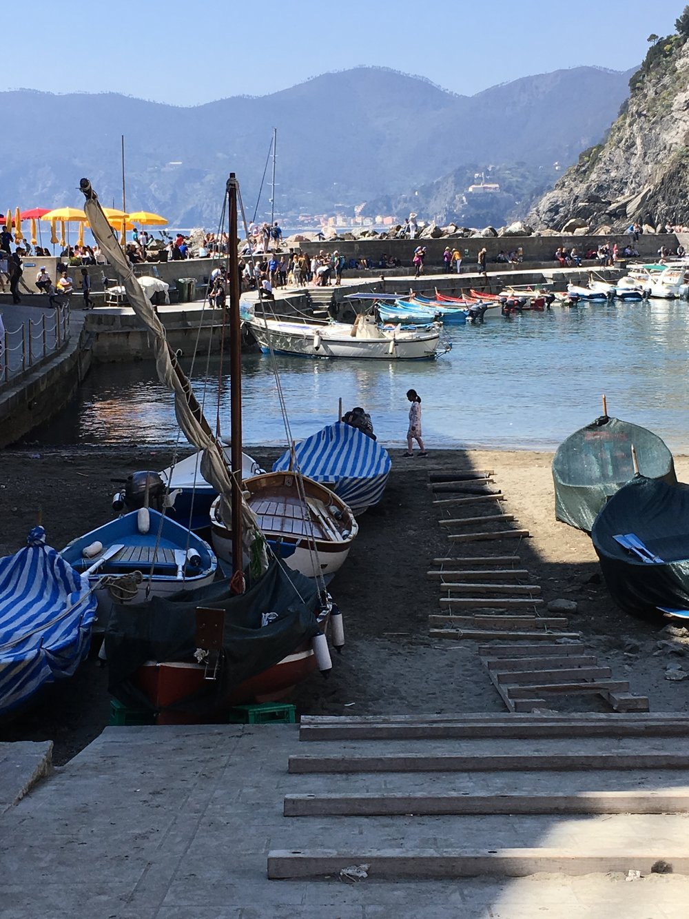 Vernazza's harbor.