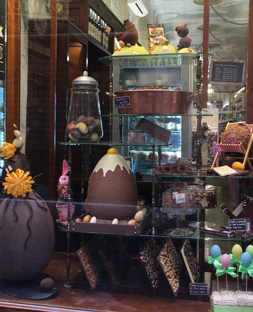 Artisanal chocolate Easter treats.