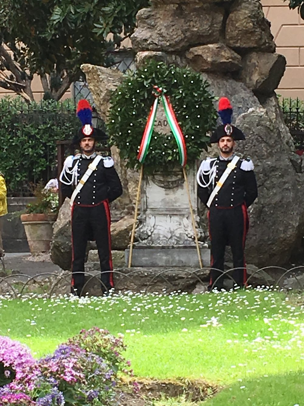 Wreath laying ceremony, Lucca.