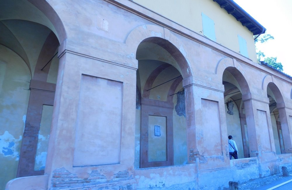 The all uphill portico leading to the Santuario di San Luca, Bologna.