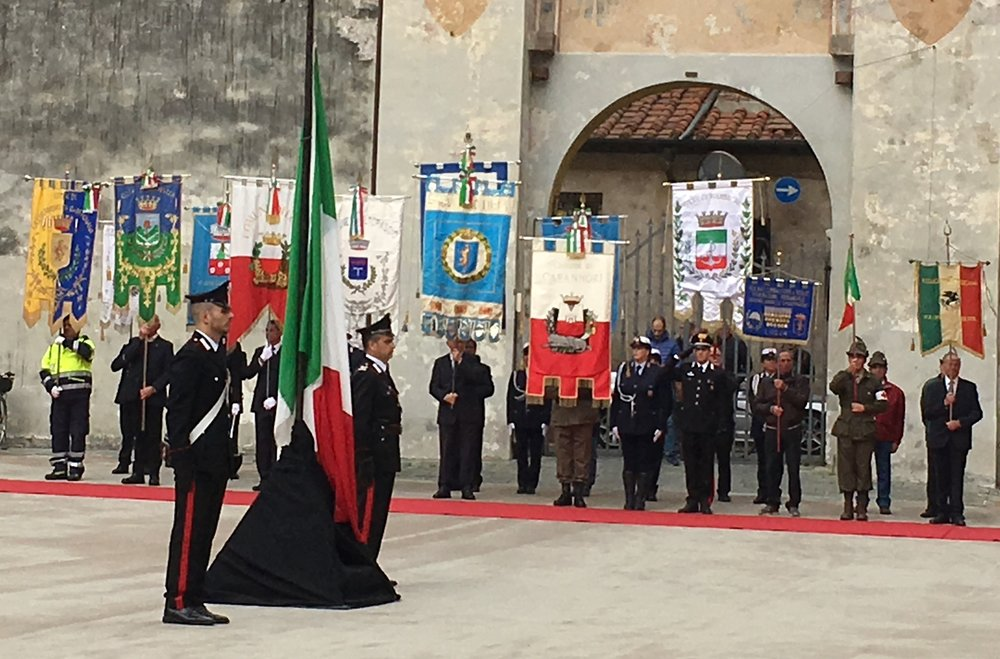Liberation Day ceremony, Lucca.