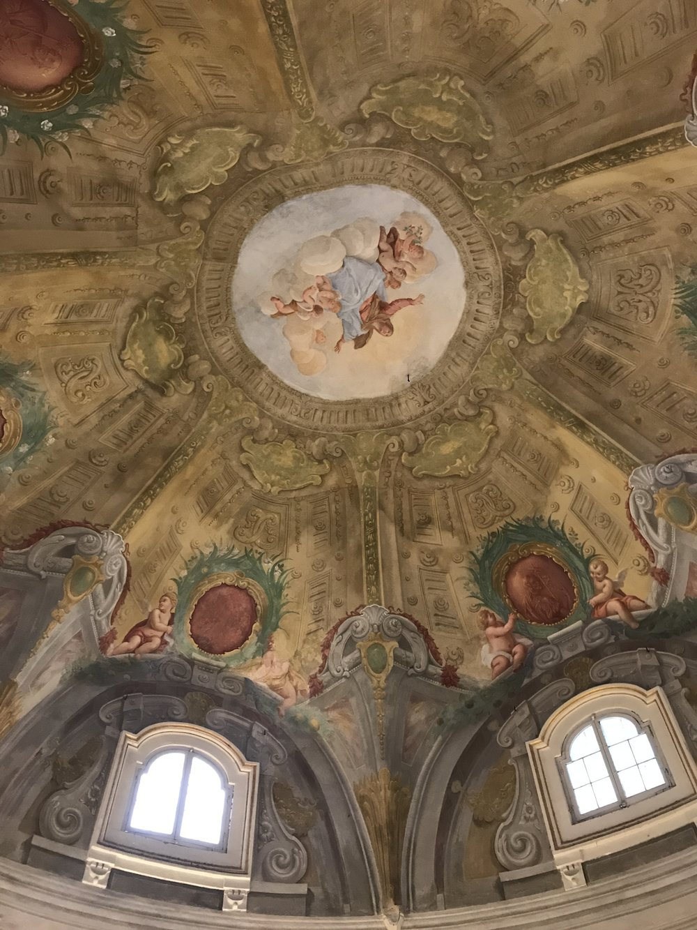 The ceiling of Museo Paolo Cresci