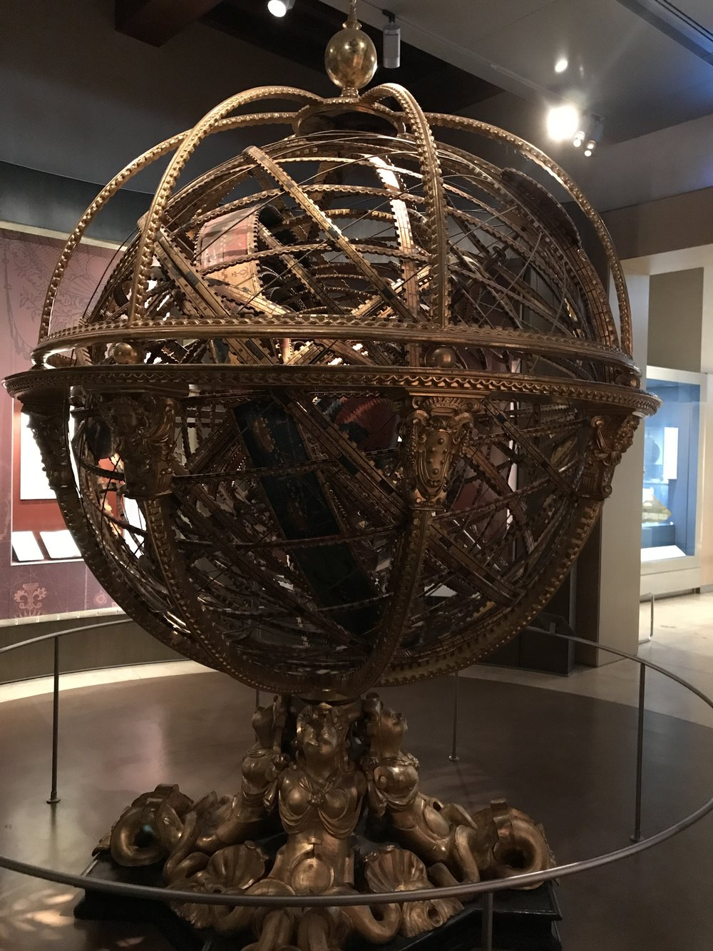 The giant armillary sphere at the Museo Galileo.