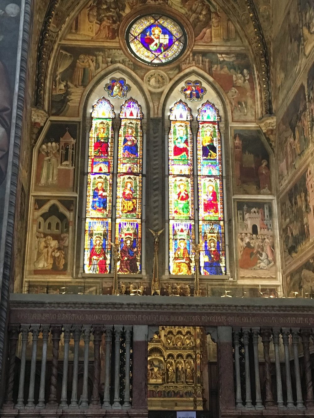 Side chapel with beautiful windows