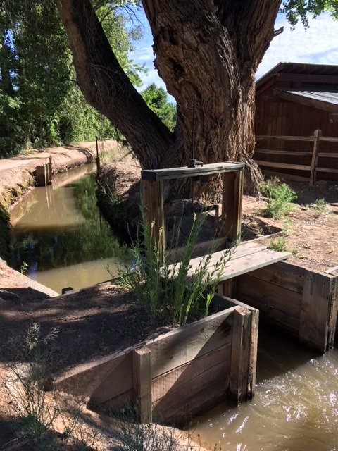 An old acequia gate