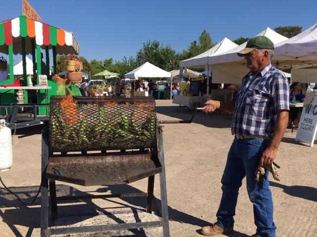 Green chile roasting - the scent of late summer in New Mexico