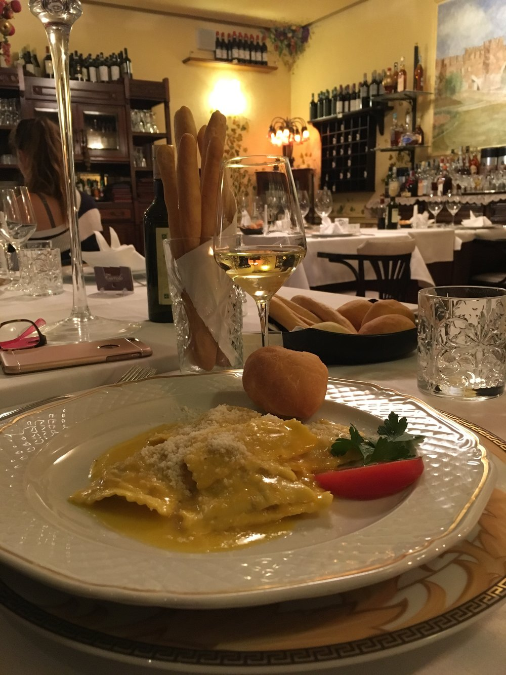 Fine dining at Ristorante Torcolo, Verona.