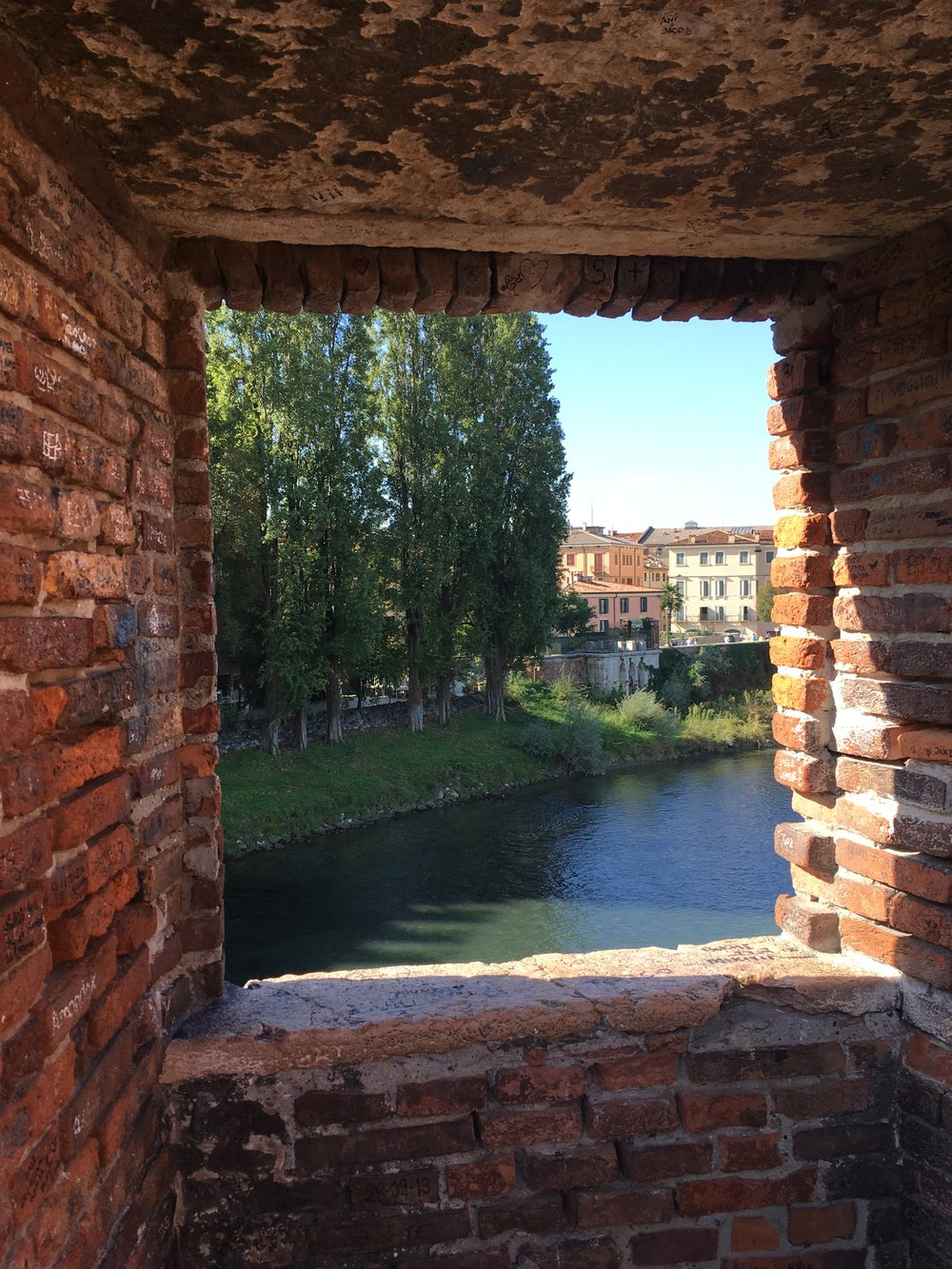 Verona, as seen from the Ponte Scaligero